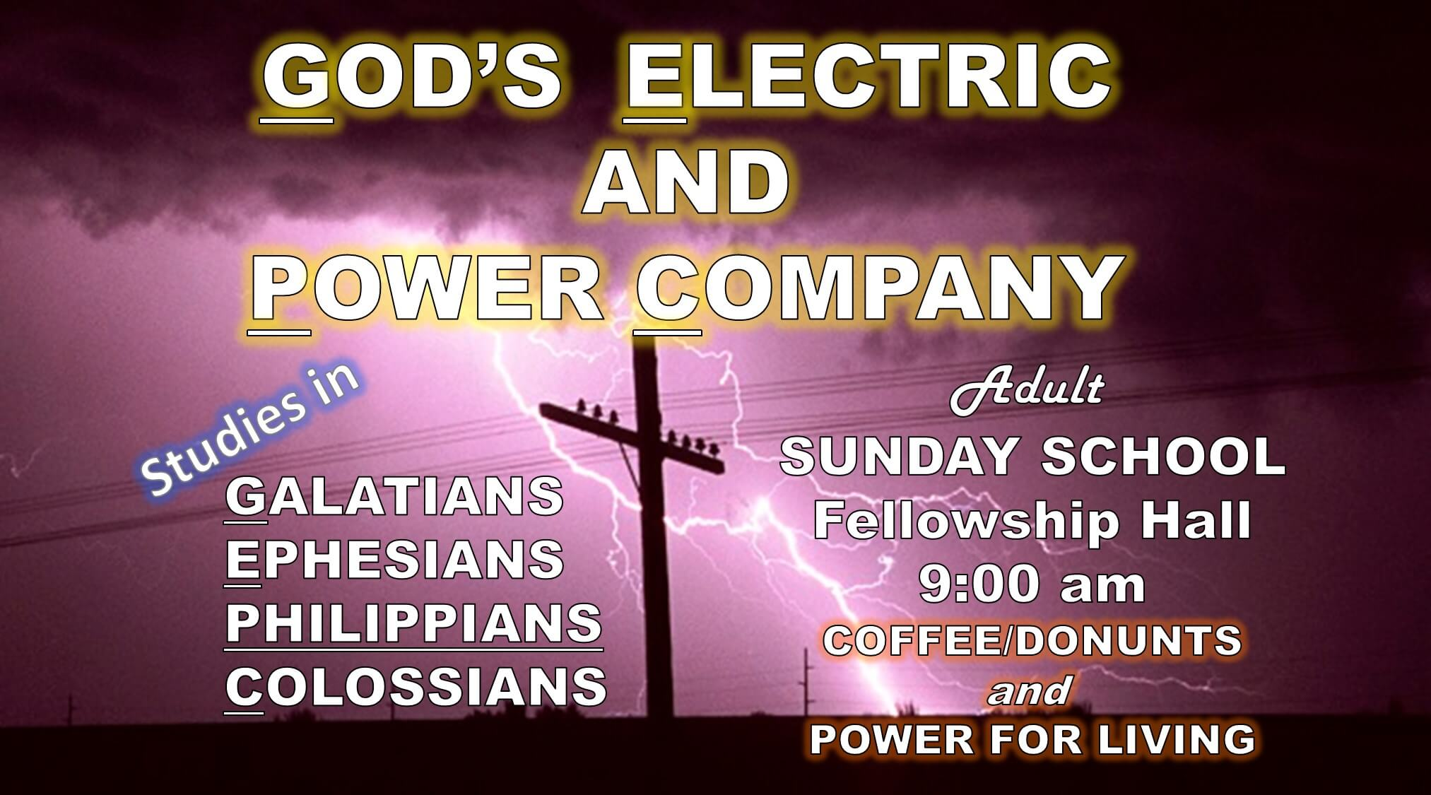 God's Electric Power Company Banner